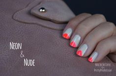 DIY Nails Art :DIY Neon Nails Art: Neon  Nude Nail Art Tutorial