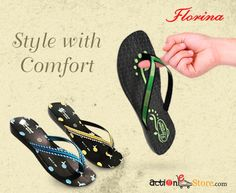 Florina is where style meets comfort. Find more designs, more styles & of course more comfort here - http://bit.ly/Slippers-Women