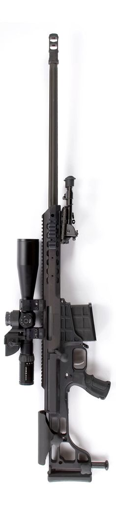 The Barrett Model 98B (also known as the 98 Bravo), bolt-action sniper rifle chambered in .338 Lapua Magnum.