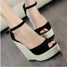 Daisy Dress For Less   Elegant fashion Shoes Platform gladiator wedges Sandals   Free Shipping Worldwide-29.99$