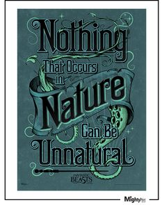 "From the Fantastic Beasts and Where To Find Them™ Collection: Newt Scamander reminds you that ""Nothing that occurs in Nature can be Unnatural"" in Fantastic Beasts and Where to Find Them. This light-diffusing MightyPrint™ is fade, and tear resistant - and as sturdy as Scamander's luggage! http://www.mightyprint.com/product-page/101bea24-abf1-f8fd-a52d-d251bf7837d3"
