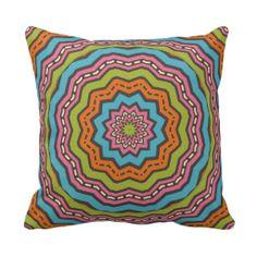 Bright and Colorful Throw Pillows Kaleidoscope Pillow - Gorgeous