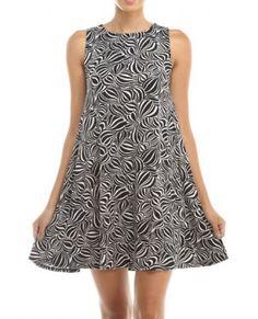 Hourglass Sleeveless Print Dress