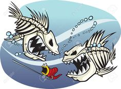 Illustration about A pair of wicked cartoon skeleton fish. Vector and high resolution jpeg files available. Illustration of recreation, angling, bait - 33326620 Cartoon Fish, Cartoon Art, Fish Vector, Vector Art, Fish Skeleton, Dope Cartoons, Fish Drawings, Fishing Humor, Fish Art