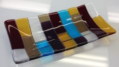 Fused Glass - flared tray --Glassateria
