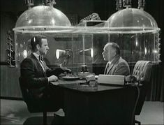 "the Cone of Silence.Get Smart (Britain's version was the Umbella of Silence in ""That Old Gang of Mine"" episode? James Bond, Radios, Tv Retro, Retro Pop, Mejores Series Tv, Nostalgia, Old Shows, Vintage Tv, Vintage Photos"