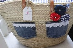 kochamiszyje Diy Straw, Straw Bag, Diy And Crafts, Arts And Crafts, Ibiza Fashion, Couture, Purses And Bags, Patches, Handmade