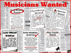 Musicians Wanted Bulletin Board Kit-Careers in Music