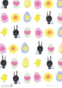 Free printable easter wrapping paper susse collection paper easter bunny paper free printable at susse collection negle Images