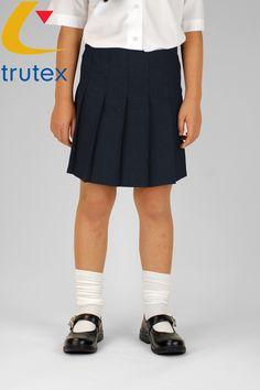Trutex Junior Stitch Down Pleat Skirt in Navy | Skirts & Pinafores | School Uniform Shop
