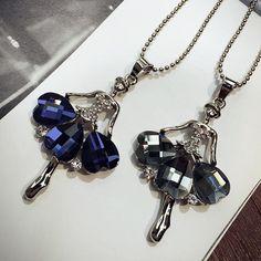 Necklaces With Beautiful Ballet Girl Pendant Item Type: NecklacesNecklace Type: Pendant NecklacesLength: 75cmMetals Type: Zinc AlloyGender: WomenStyle: TrendyPe