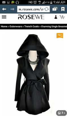 f6c39286e3b Charming Single Breasted Long Sleeve Trench Coat Black My favorite clothing  online store with awesome prices
