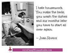 I hate housework!