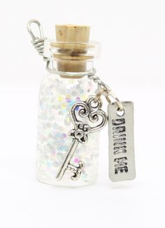 drink me bottle | Alice In Wonderland Drink Me Potion Bottle Charm by JegasCreations