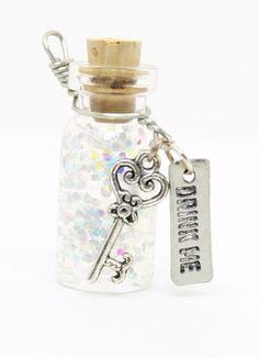 drink me bottle | Alice In Wonderland Drink Me Potion Bottle Charm by JegasCreations