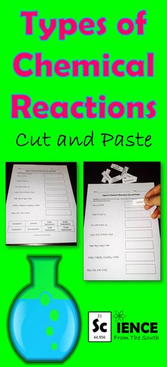 Use this FREEBIE to review or assess your students over different types of chemical reactions.