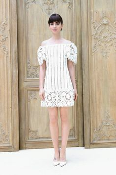 Actress Lily Collins attends the Valentino show as part of the Paris Fashion Week Womenswear  Spring/Summer 2017  on October 2, 2016 in Paris, France.