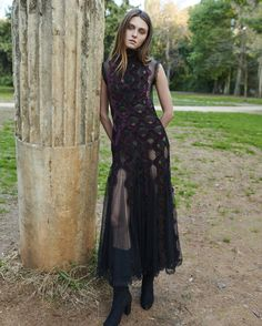 PR18 51 Sleeveless, Low Waist Ankle Length Tulle Dress Tulle Dress, Dress Up, Purple Velvet, Chantilly Lace, Fall 2018, Beautiful Eyes, Ankle Length, Ready To Wear, Style Inspiration