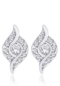Peora Silver Earrings-Mksp -   http://www.jabongworld.com/red-white-pearl-string-1041066.html
