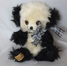 "Merrythought Cheeky Beanie Panda Cheeky Mohair Teddy Bear with  bells 9"" LE500"