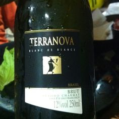 Terranova brut. Espumante hecho en Brasil.