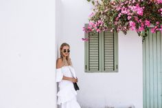 ALL WHITE & MIU MIU FLATS | IBIZA, SPAIN