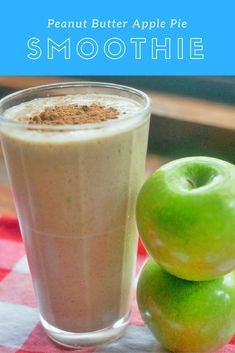peanut butter apple pie smoothie title