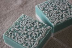 white lace soap