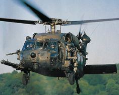 A Sikorsky UH-60 Black Hawk used by the 160th Special Operations Aviation Regiment Knight Stalkers