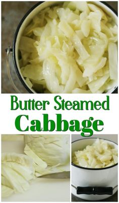 This is such an easy and a delicious side dish.  Butter steamed cabbage.  Perfect for a quick side and it's good for you, too! #recipe #sidedish #vegetables #oliveoil #thehowtohome