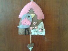felt bird house.kece kapi susu