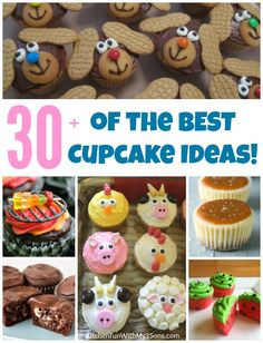 Over 30 of the BEST Cupcake Ideas & Recipes...everything from Kids party…