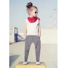 (9.16$)  Buy here  - Fashion Kids Baby Girls Two-Piece Set Vest Sleeveless T-Shirt Plaid Print Elastic Waist Trousers Outfits White