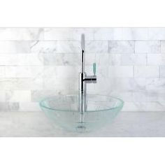 Shop for Crystal Glacier Vessel Sink. Get free shipping at Overstock.com - Your Online Home Improvement Outlet Store! Get 5% in rewards with Club O!