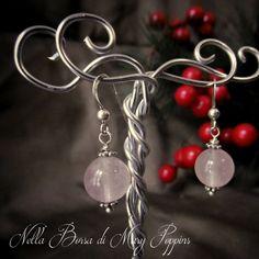 Earrings ball rose quartz earrings zodiac sign Taurus and Libra   earrings October  silver earrings  Christmas Gift  Gift Idea (15.00 EUR) by NellaBorsadiMaryPopp