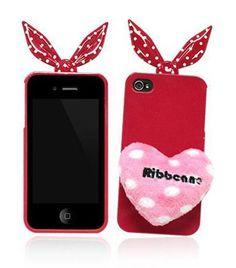 #iPhone 4 - 4S Coque silicone RIBBONNE Edition - So Cute Kawaii - High Tech - Showroom-Mode® / Vêtements - Robes - Sac à mains - Chaussures - Toms - Havaianas - showroom