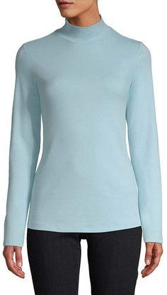 52a3474a3ff62 JOHN S BAY Womens Mock Neck Long Sleeve T-Shirt
