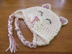Ravelry: Puppy Dog or Kitty Cat Hat with or without Earflaps Happy Pets crochet pattern by Darleen Hopkins