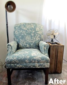 How to reupholster a wingback chair | Wingback chairs ...
