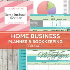 Organize your small business in one place with this very thorough Home Business Planning Kit.