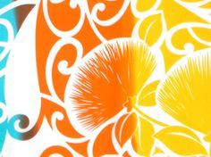 Tropical Fabric, Tapa and Lehua Flowers. Check it out at HawaiianFabricNBYond.Etsy.com  Aloha :)