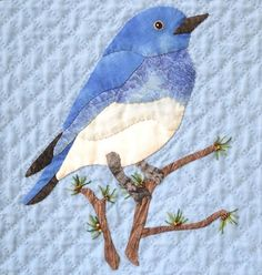Mountain Bluebird Block (Idaho, Nevada) - via @Craftsy