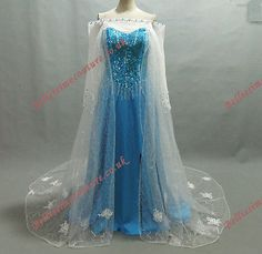 Disney Princess Frozen Queen Elsa Costume adult SIZE 6,8,10,12,14,16 Elsa dress