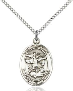 St. Michael Pendant (Sterling Silver) by Bliss | Catholic Shopping .com
