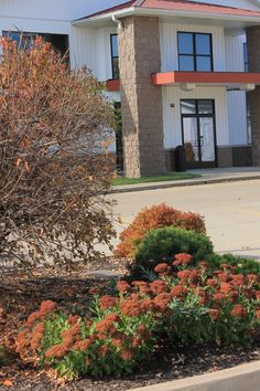 Intersection (youth building) parking lot landscaping.