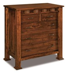 Amish Sequoyah Five Drawer Child's Chest of Drawers Great chest to help organize your child's clothing and accessories. Handcrafted in Amish country and comes in the wood, finish and hardware you select. #woodchests #bedroomchests