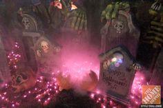 Award-winning papier-mâché artist Scott Stoll shares his Halloween decorating ideas in an amazing backyard display, with links to his tutorials.