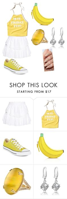 """""""untitled"""" by athena420 ❤ liked on Polyvore featuring LoveShackFancy, Hollister Co., Converse and Kate Spade"""