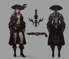 Bad girl, Shin Hee cheol on ArtStation at… Dnd Characters, Fantasy Characters, Female Characters, Pirate Art, Pirate Woman, Female Character Concept, Character Art, Character Ideas, Steampunk Armor