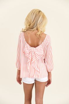 Just Too Cute Blouse-Coral - Tops